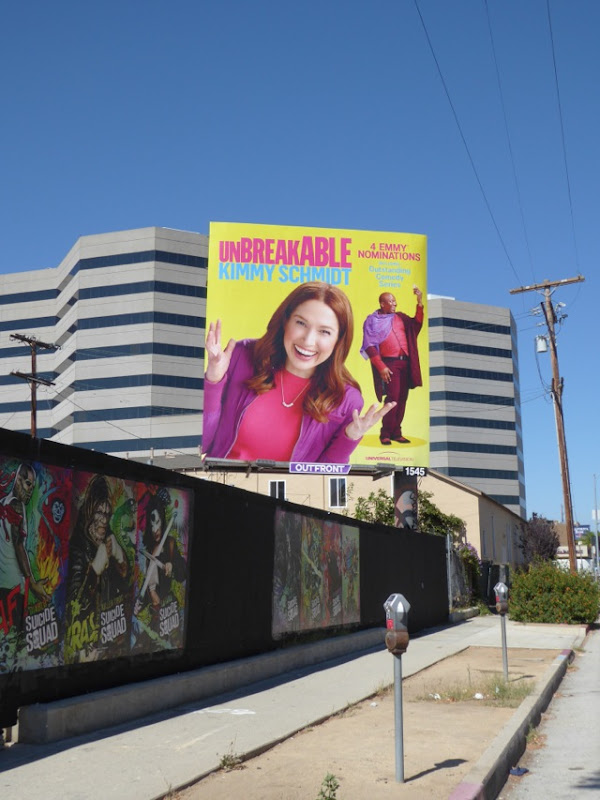 Unbreakable Kimmy Schmidt 2016 Emmy billboard