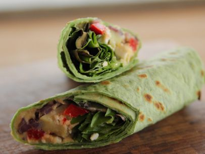 Heavenly Hummus Wrap with Homemade Hummus