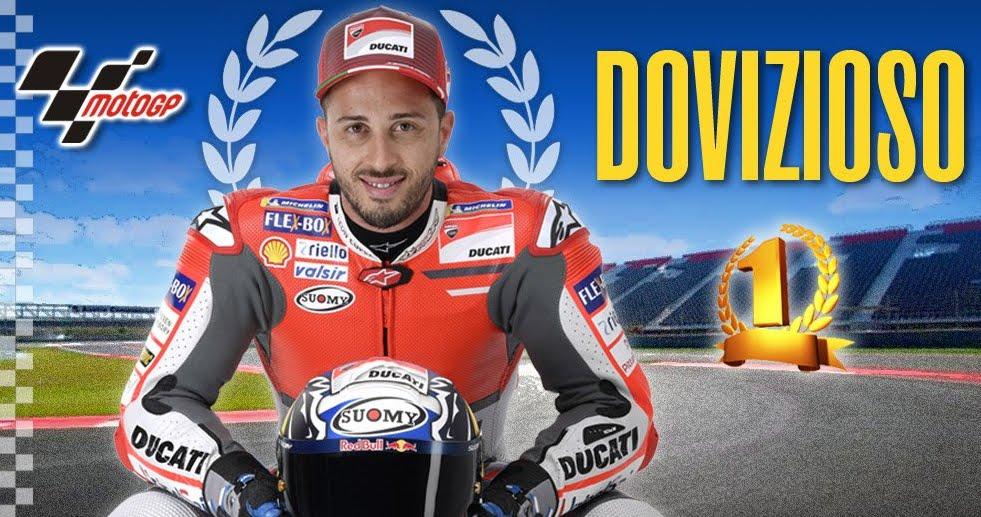 MotoGP Qatar: Dovizioso su Ducati vince davanti a Marquez (Honda), Valentino su Yamaha terzo!