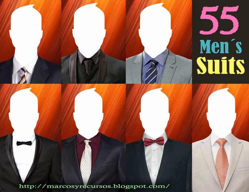 trajes de hombres para hacer fotomontajes