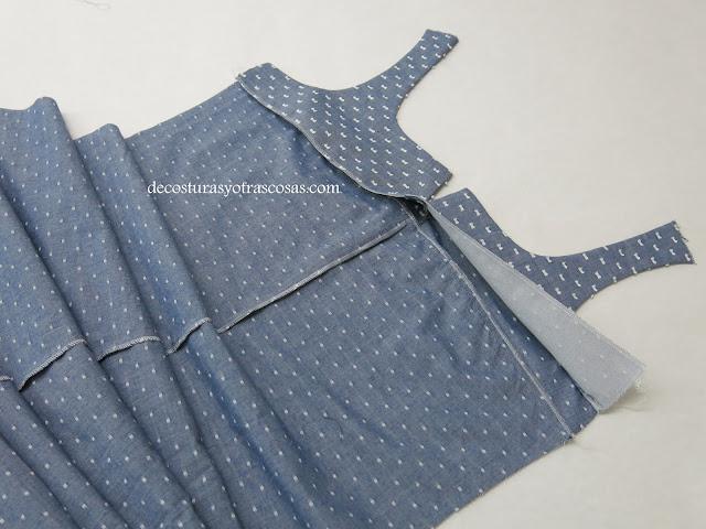 como pulir el interior de un vestido con vista entretelada