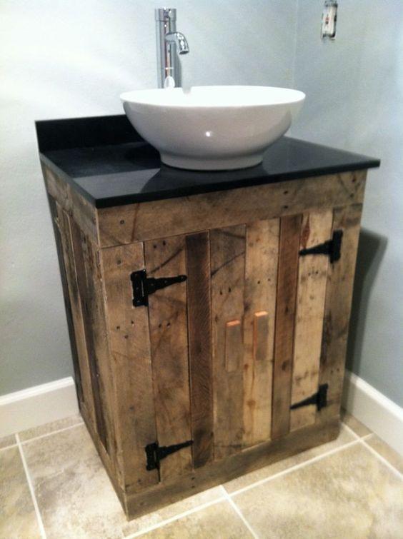 Reciclar reutilizar y reducir preciosos muebles de ba o - Reciclar palets para muebles ...