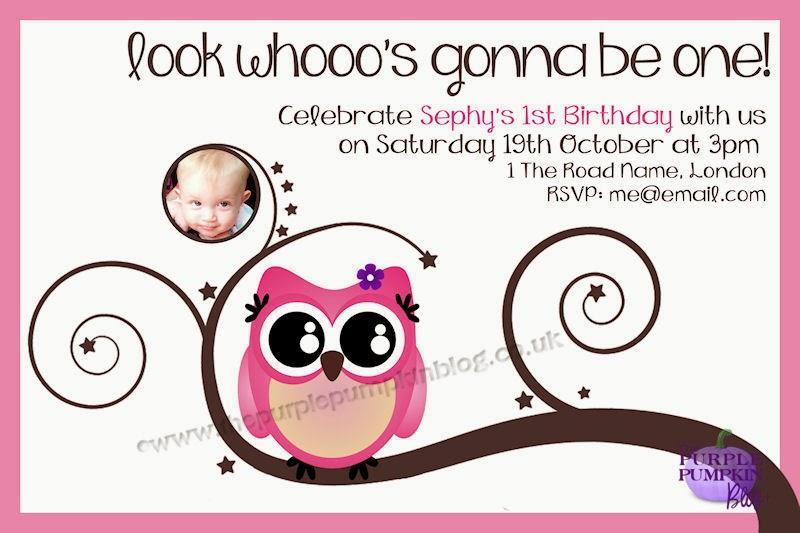 Cute owl 1st birthday party invitations filmwisefo