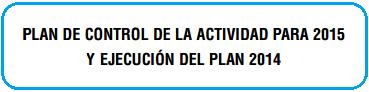 ICAC Plan control actividad 2015