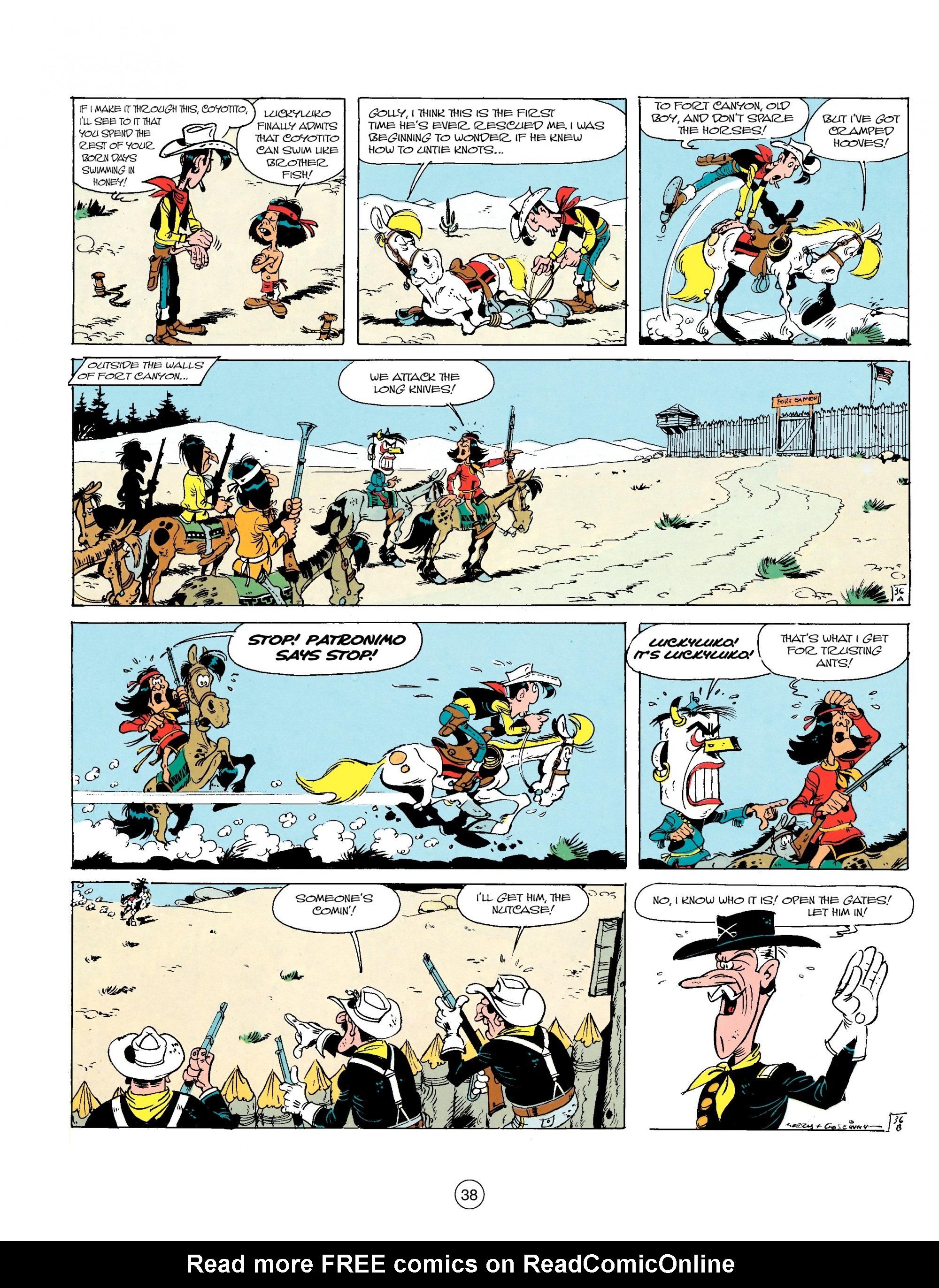 Read online A Lucky Luke Adventure comic -  Issue #17 - 38