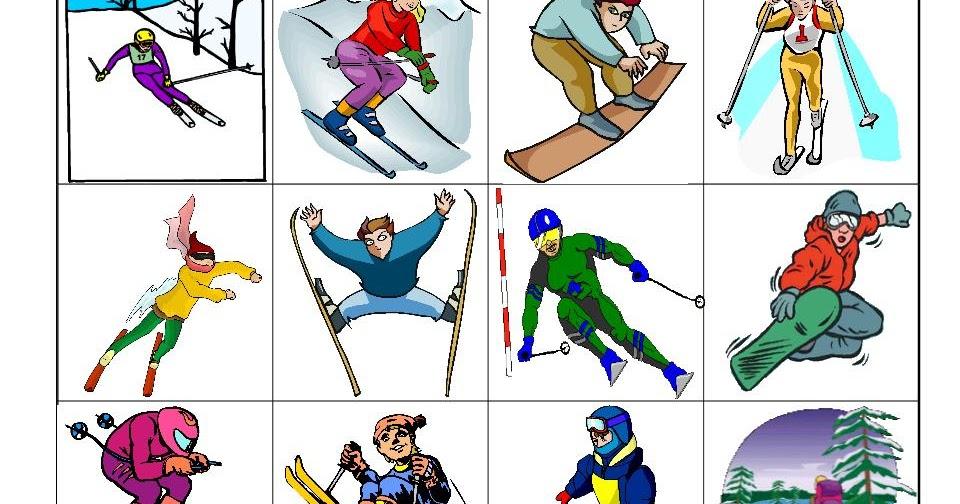 Maternelle: A vos skis, images pour trier des skieurs