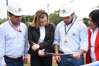 La intendente de Ciudad del Este, Sandra Zacarías, reiteró su agradecimiento al presidente Horacio Cartes por los multimillonarios recursos económicos que destinó en obras para la ciudad durante su mandato.