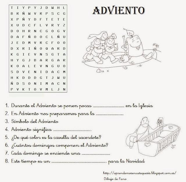 Parroquia La Inmaculada: 30 fichas de Adviento: Pasatiempos ...