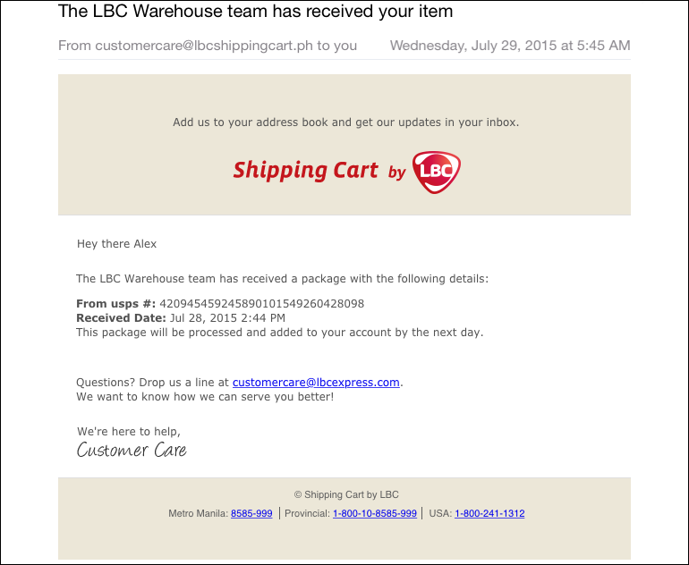 Shipping from the US to Philippines Made Easy with LBC