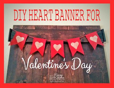 tutorial for Valentine's Day Heart Banner