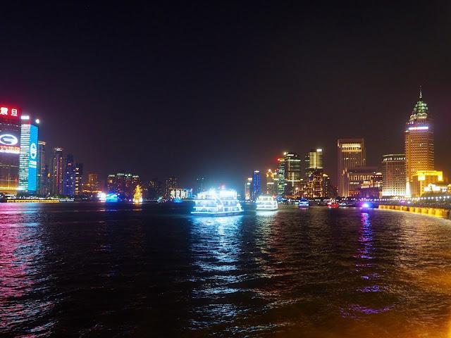 Huangpu river at night, Shanghai, China