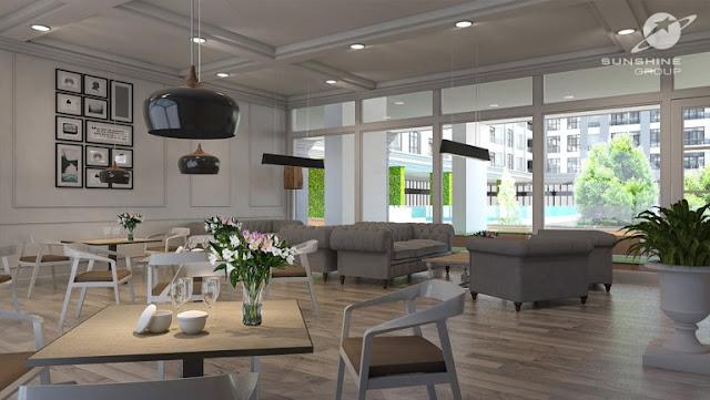 Thiết kế phòng khách căn hộ Sunshine Garden