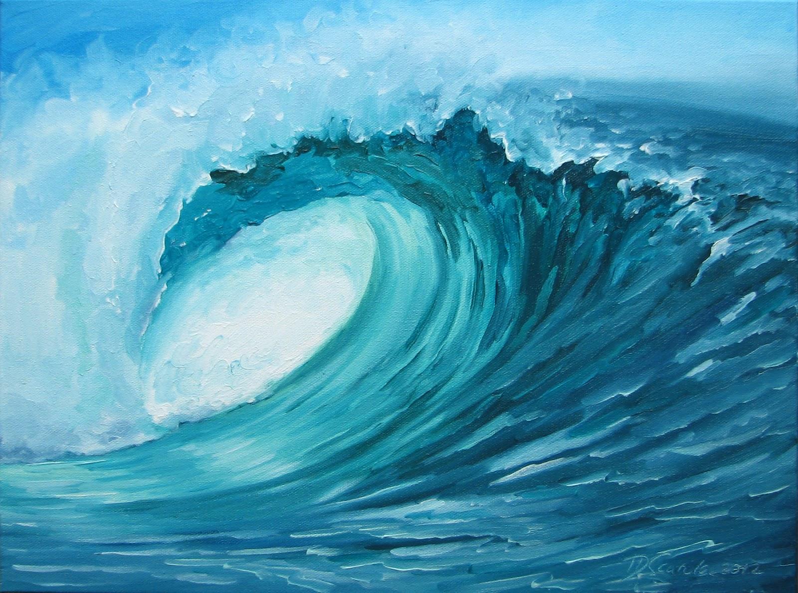 Daina Scarola, Ocean Art Studio: Craving Liquid ~ Curling ...