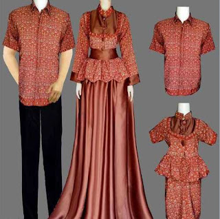 Model Baju Batik Couple Ayah Ibu Anak
