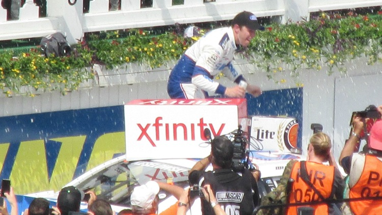 Winning celebrations at Pocono Raceway
