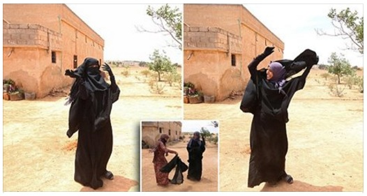 Liberated Syrian Ditch Symbol of ISIS Oppression By Throwing off Niqab