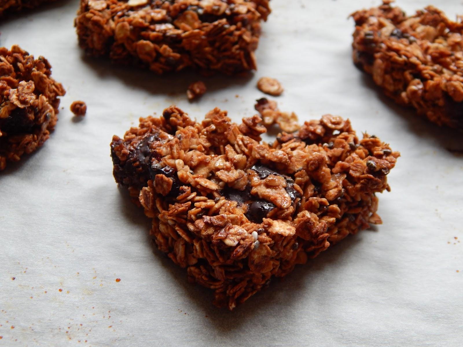 Čokoládové ovesné sušenky bez mouky