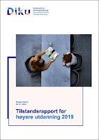 DIKU-rapport nr 5 -2019. Tilstandsrapport for høyere utdanning 2019, forside.