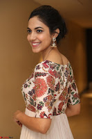 Ritu Varma smiling face Cream Anarkali dress at launch of OPPO New Selfie Camera F3 ~  Exclusive 072.JPG