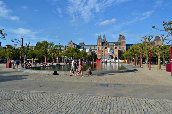 Praça Leidseplein em Amsterdã