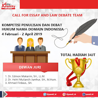 Lomba Menulis Esai dan Debat Hukum - Call For Essay And Law Debate Team PANDI
