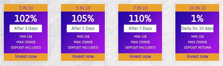 Инвестиционные планы 10in10