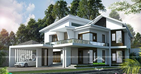 4 Bedroom Modern Sloping Roof House 444 Square Yards