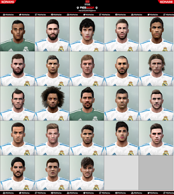 PES 6 Facepack Real Madrid 2018