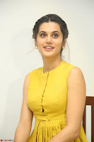 Taapsee Pannu looks mesmerizing in Yellow for her Telugu Movie Anando hma motion poster launch ~  Exclusive 012.JPG