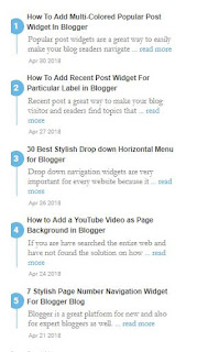 9 Best Recent Post Widget For Blogger Blog