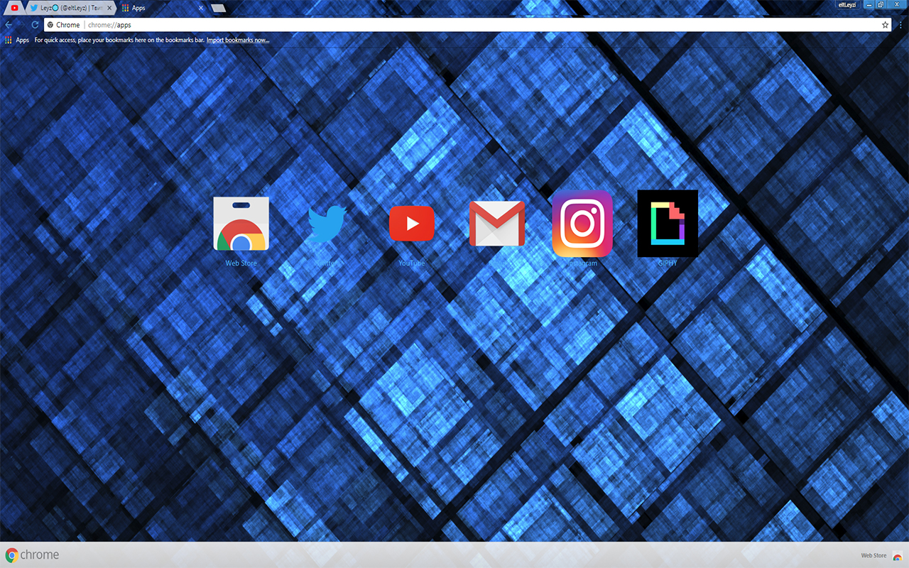 LEAFYISHERE SQUARE   Abstract Fractal Theme FOR Google Chrome