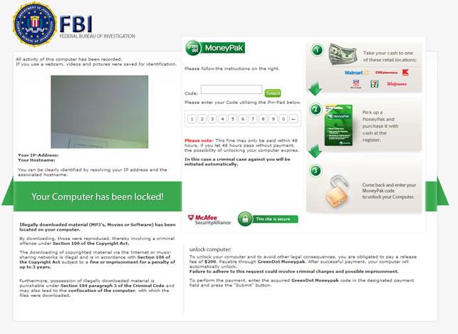 Online Asom: How To Remove The FBI MoneyPak Virus