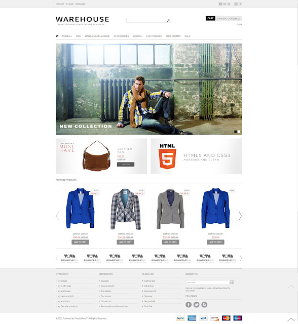 warehouse plantilla prestashop html5