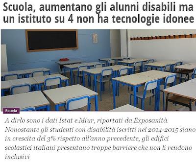 http://www.ilfattoquotidiano.it/2016/03/04/scuola-aumentano-gli-alunni-disabili-ma-un-istituto-su-4-non-ha-tecnologie-idonee/2519509/