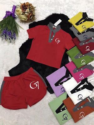 Set áo Croptop và quần lửng cao