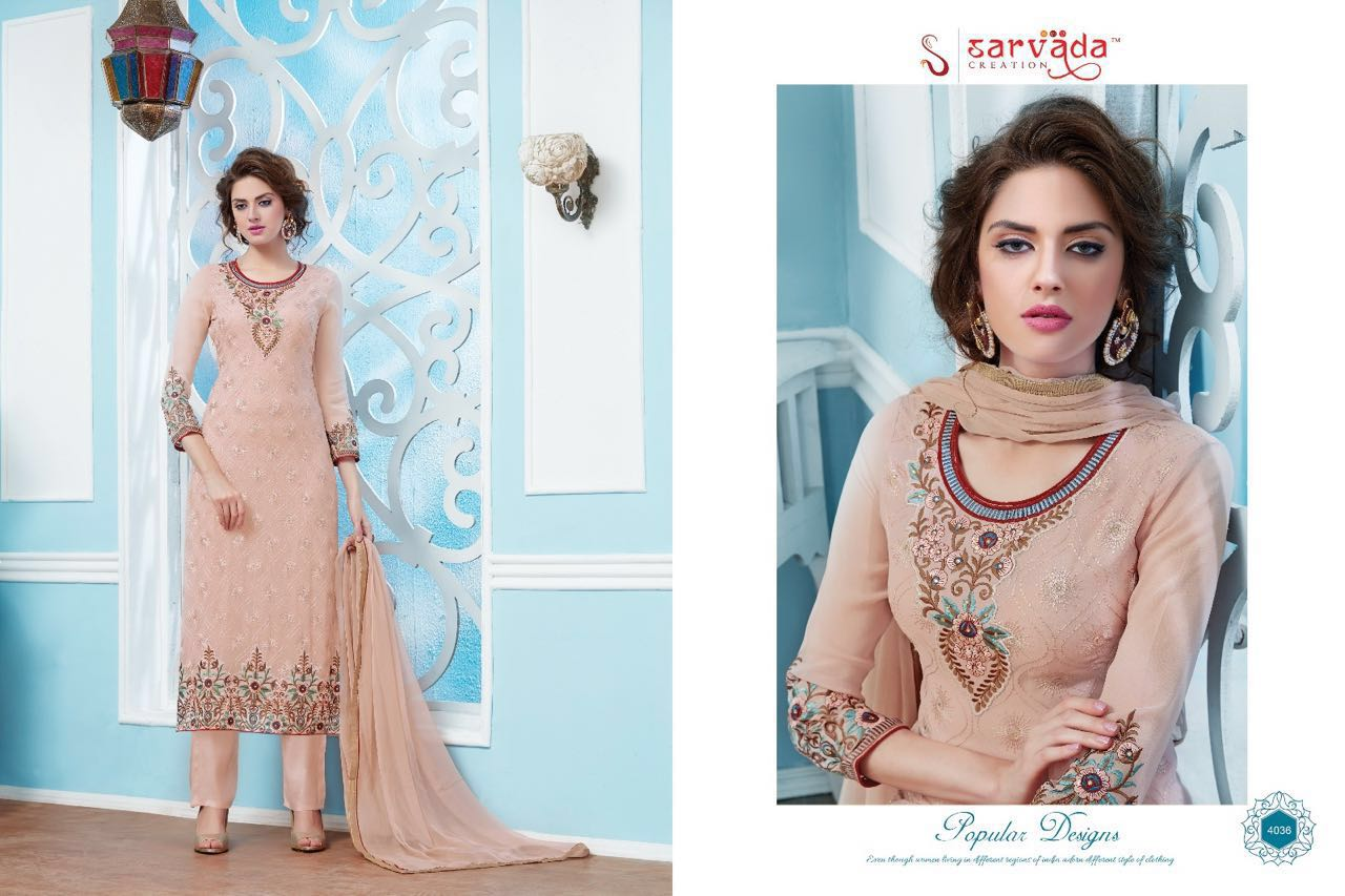 Lemis – Outstanding Georgette Embroidery Salwar Suit