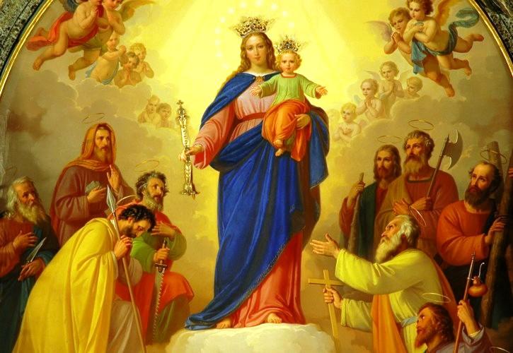 SAGRADOS CORAZONES JESUS Y MARIA: VIRGEN MARIA AUXILIADORA