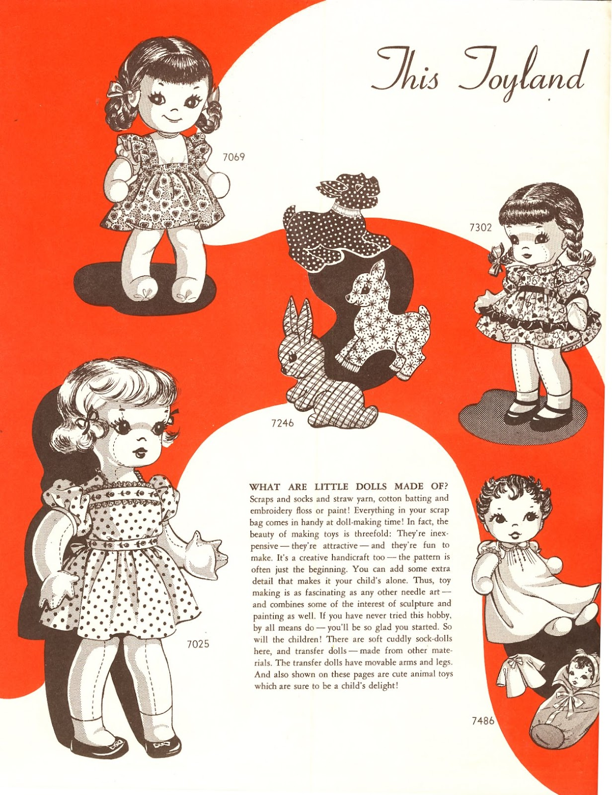 Vintage Cloth Doll Pattern 37