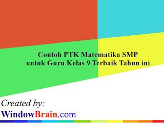 Download Contoh PTK Matematika SMP - untuk Guru Kelas 9