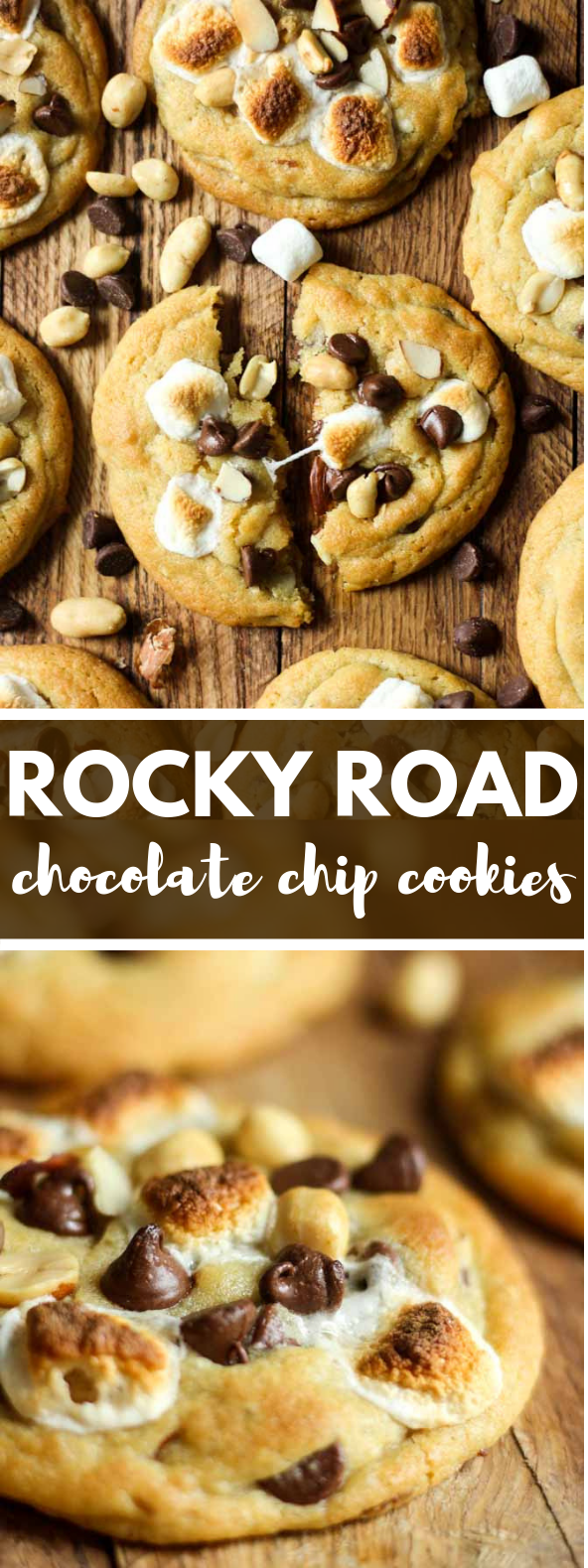 ROCKY ROAD COOKIES #dessert #chocolate