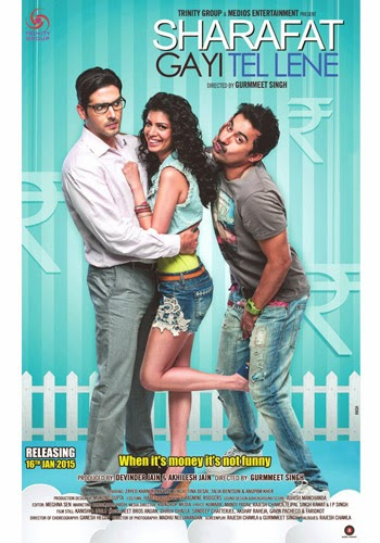 Sharafat Gayi Tel Lene 2015 Hindi 720p DVDRip 800mb bollywood movie sharafat gayi tel lene 720p DVDRip free download or watch online at https://world4ufree.ws