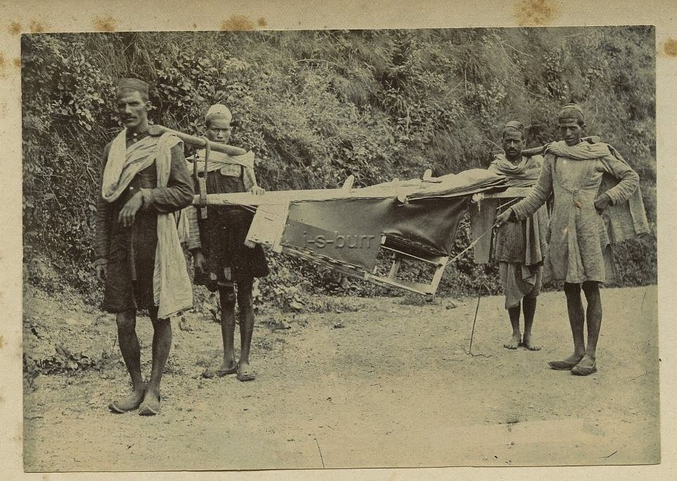 Indian Sedan Chair Drivers In The Himalayas - c1900's