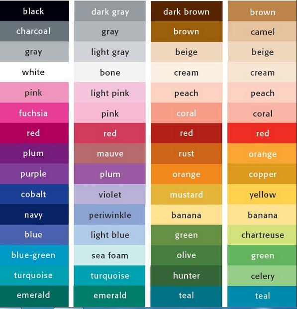 100 Nama Warna dalam Bahasa Inggris Lengkap dengan Arti