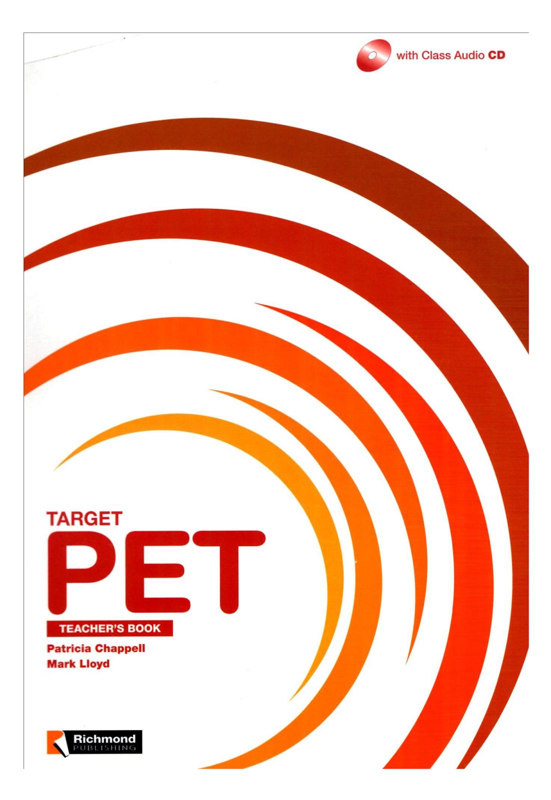 Target PET Teacher's Book + audio CD