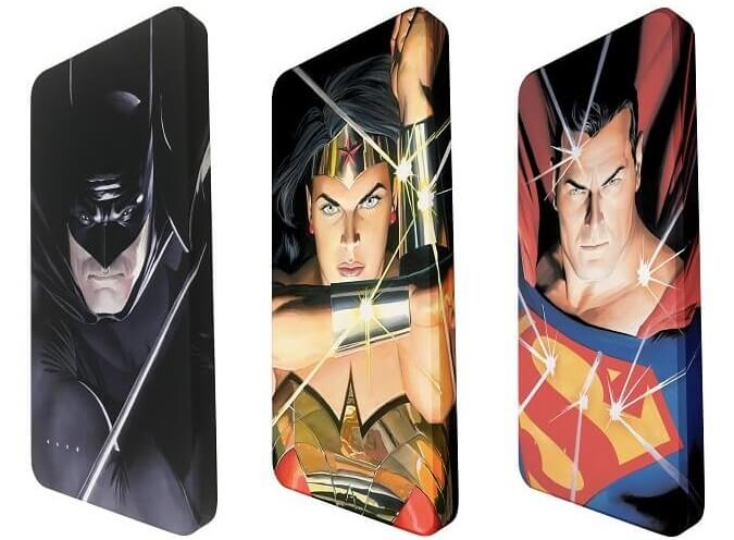 DC Super Heroes Cafe PH Outs Ekonic Trinity Art Series Power Banks
