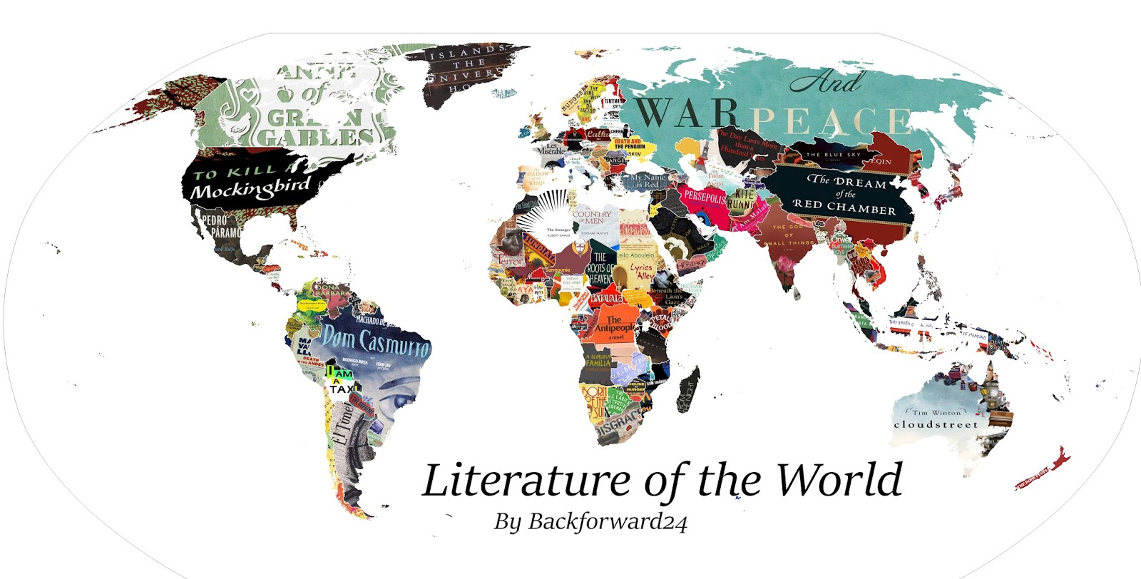 Around the world in 80 books literature of the world map by literature of the world map by backforward24 gumiabroncs Images