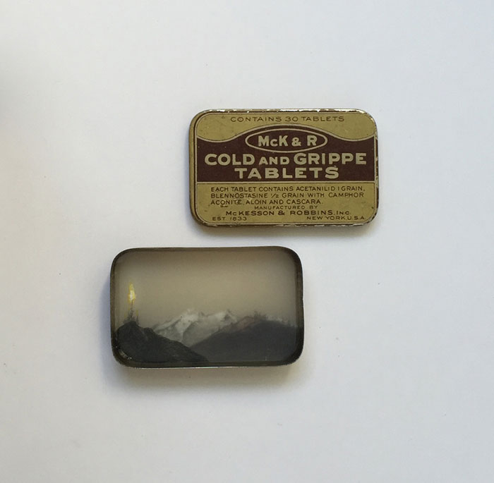 Drawings Inside Vintage Medicine Tins By Brooks Salzwedel