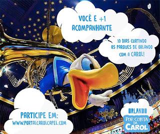 Participar promoção Orlando por conta da Carol