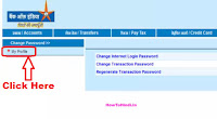 how to change registered mobile number in bank of india online