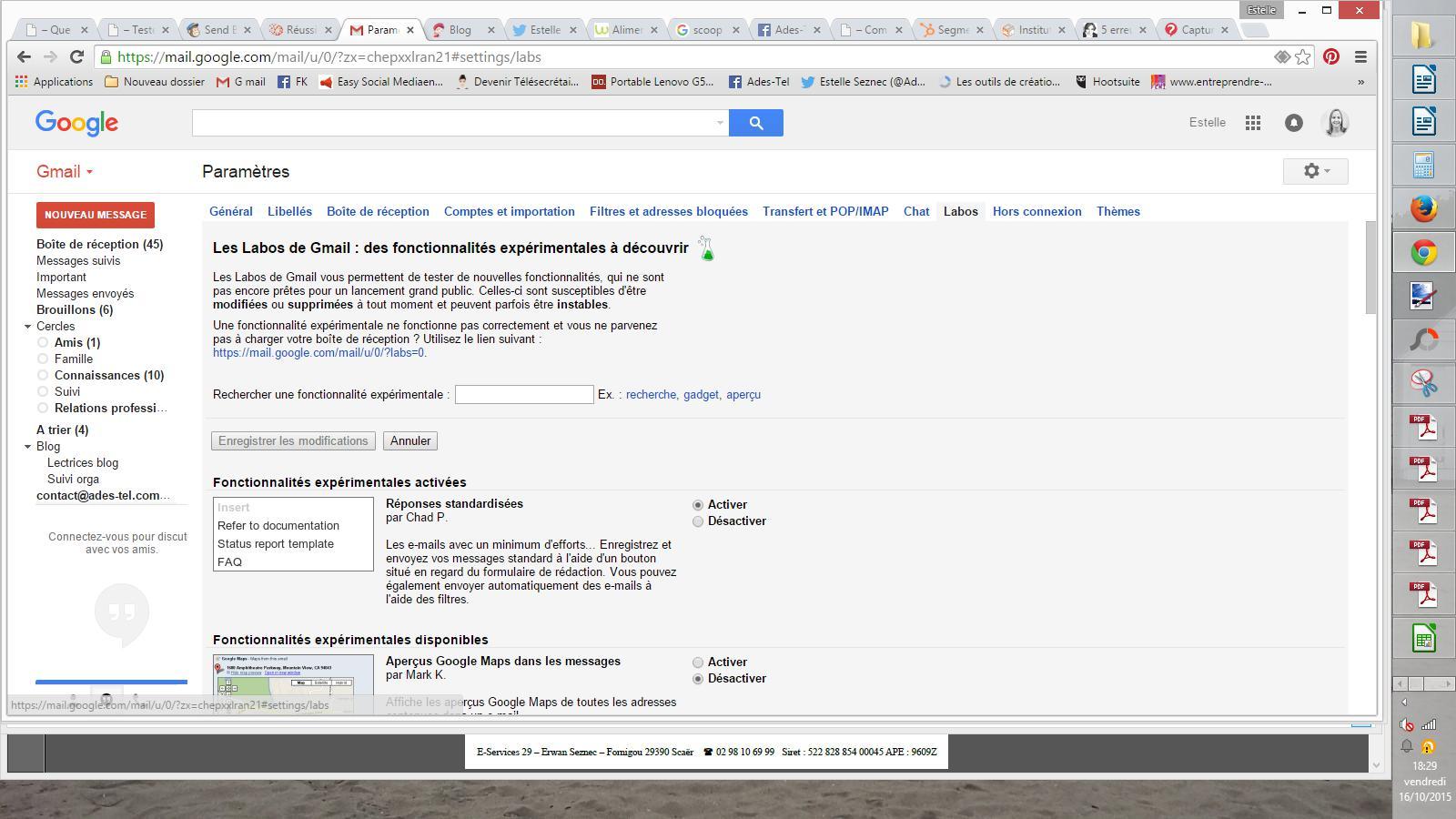 Régler les paramètres dans Gmail